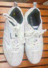 Hi-Tec Squash Classic White Indoor Badminton Sports Suede Shoes UK 6/EU 39