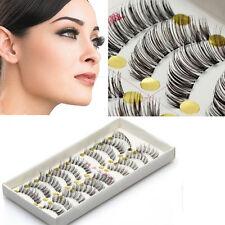 10 paires faux cils épais long naturel maquillage volumineux Beauté Pour felmme