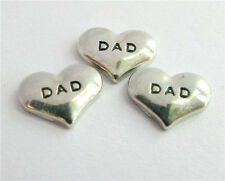 10pcs DAD heart Floating charms For Glass living memory Locket FC0094
