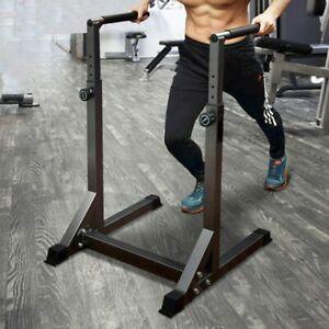 VILOBOS Adjustable Dip Stand Station Multi-Function Pull Push Up Bar Home Gym