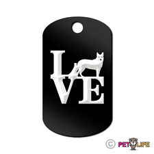 Love Australian Cattle Dog Engraved Keychain Gi Tag dog park heeler
