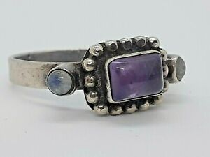 Antique 925 Silver and Amethyst Ring