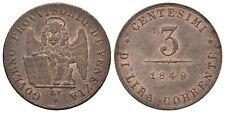Italien - Venedig 3 Centesimi 1849, Venedig. 2.61 g. Montenegro 95 - VZ