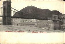 Děčín Bodenbach a.d. Elbe ~1900 Kettenbrücke Schäferwand Brücke Bridge Postcard