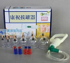 Chinese Medical 12 Cup Body Cupping Set 8 Magnets Points Kangzhu B12 Message FS