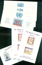 LIBERIA : 5 different Souvenir Sheets. All Very Fine, Mint Original Gum Hinged.