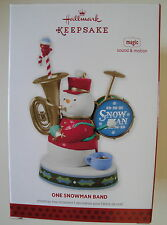 2013 Hallmark Christmas Ornament One Snowman Band Magic