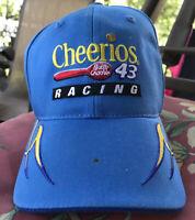 NEW Vintage #43 NASCAR Cheerios Racing Blue Yellow Race Adjustable StrapBack Hat