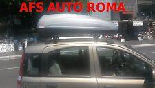 BOX AUTO PORTAPACCHI BAULE G3 KRONO 400+BARRE FIAT PANDA ANNO 2007 CON RAILS