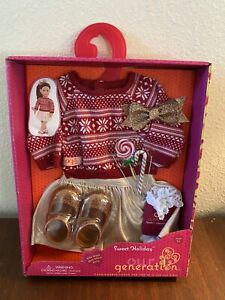 """OUR GENERATION Sweet Holiday NEW Outfit 18"""" Dolls"""