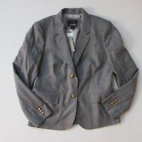 NWT J.Crew Schoolboy Blazer in Heather Graphite Italian Wool Flannel Jacket 10