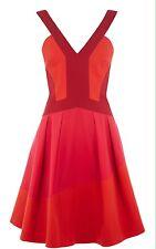 Karen Millen Red Skater Dress UK 14