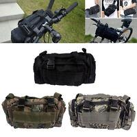 Multi Cycling Bike Bicycle Waist Pack Shoulder Handlebar Bag Front Frame Rear