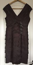 Adrianna Papell S.10 Brown Metallic Flapper, 1920'S Style Cocktail Formal Dress