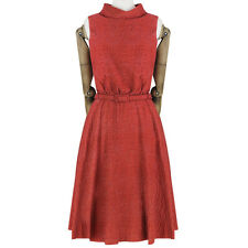 Erdem Vermillion Red Cutout Back Belted Waist Jacquard Dress UK8 IT40