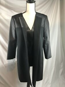 Size 8P Medium Ann Taylor 3 Piece Suit, Faux Leather Jacket Lot , Top & Pant Set