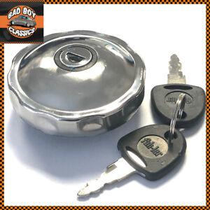 Locking Stainless Steel Classic Fuel Petrol Cap Fits MGB / MG MIDGET