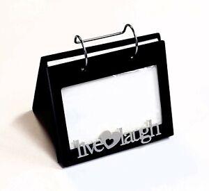 Malden International Designs 4x6 Live Love Laugh Photo Album Frame Freestanding