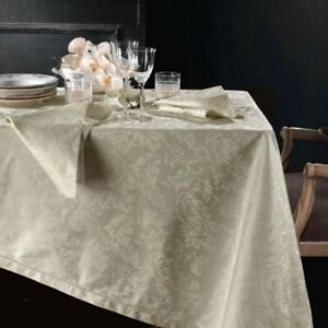 PIAZZA PITTI 180x280 cm tablecloth in Flanders with 12 Manuela dove-gray napkins