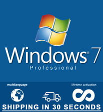 Microsoft Windows 7 Pro Professional - 32-64 bit - Multilingual - Guaranteed