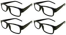 Reading Glasses +1.00 4 Pair Black Plastic Frame  Wholesale Lot Reader Men Woman