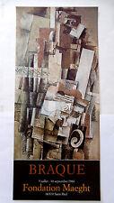 Georges BRAQUE Affiche Originale original poster 80 Cubisme Nature morte Cubism