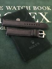 19mm Soft Leather Band and Rolex Steel Buckle with Rolex Pouch