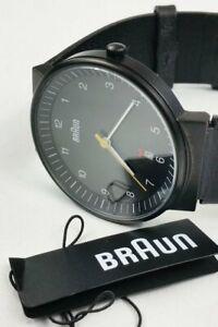 BRAUN BN0032BKBKG Stainless Steel Watch Leather Straps