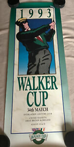 1993 Walker Cup Golf Poster - Interlachen MN  Justin Leonard Padraig Harrington