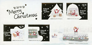 Hong Kong Christmas Stamps 2020 MNH Santa Festive Scenes Reindeer 4v M/S