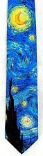 Starry Night Men's Art Neck Tie Ralph Marlin Vincent Van Gogh Blue Neck Tie