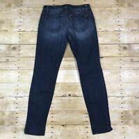 Joe's Jeans Chelsea Women's Size 28 (31x31) Dark Wash Skinny Low Rise Stretch