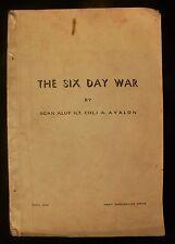 Israel Lt Col. A.Ayalon: The Six Day War Publ Army Spokesman's Office April 1968