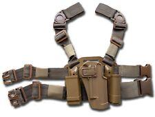 FONDINA SOFTAIR COSCIALE TAN AIRSOFT CQC LEG HOLSTER SERPA SUPER 1911 BD6088