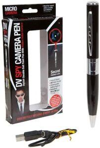 Covert spy video camera pen
