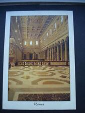 Used Postcard Interior of St Paul's Basilica, Rome 1999
