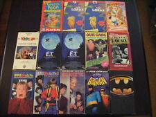 """14"" Vhs Childen'S And Adult Little Rascals, E.T. Home Alone, Batman"