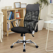 High Back Ergonomic Mesh Black Office Chair With Adjustable Height and Castors