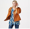 LOGO by Lori Goldstein Nylon Modern Zip Front Lightweight Jacket Allspice Sz XL