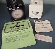Vintage Hitachi Table Vacuum TV100 Cordless Made in Japan with Box Instructions
