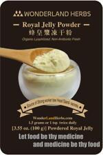 100g. ORGANIC ROYAL JELLY lyophilized powder, 6% 10-HAD, Anti Aging Energy Herb