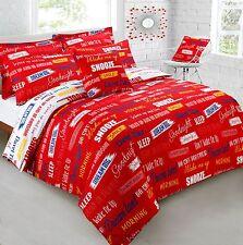 Printed Reversible Slogans Red Bedding Set(Single/Double/king)