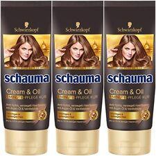 3x Schauma Creme & Oil 1-Minute-Pflege Kur 3x200ml