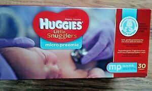 HUGGIES  Micro preemie Diapers  MP up to 4 pd