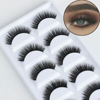 5Pairs Handmade 3D Soft Mink Hair False Eyelashes Thick Natural Long Eye Lashes`