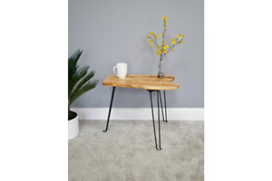 Living Edge Industrial lamp table Live Edge End Table