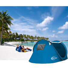 Large 3-4 Person Outdoor Camping Instant Tent Pop Up Canopy Hiking Beach Shelter