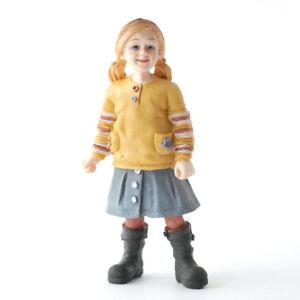 Dolls house figures, poly/resin  Modern Girl in skirt