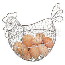 Kitchen Craft Rustic Classic Distressed Wire Egg Basket Holder Store Chicken