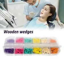 300pc Mixed Dental Interdental Composite Contoured Wood Wedges Wooden Matr 5t4e